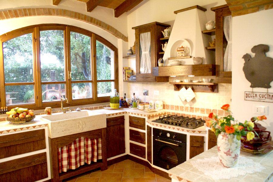 Cucina classica in finta muratura pp cfm003 mobili su - Bagno finta muratura ...