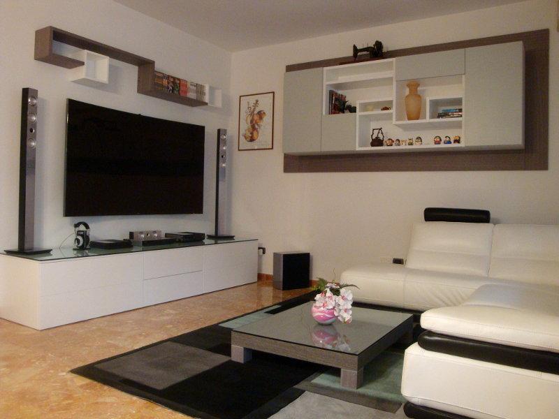 soggiorno moderno (fa-sog009) - mobili su misura a firenze - lapi ... - Soggiorno Moderno