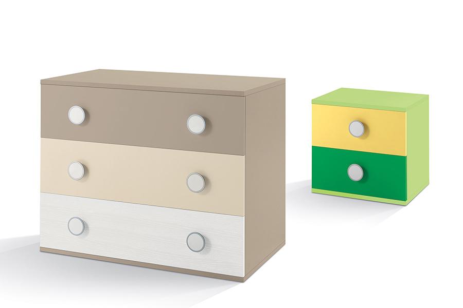 Camerette moderne mobili su misura a firenze lapi - Comodini per camerette ...
