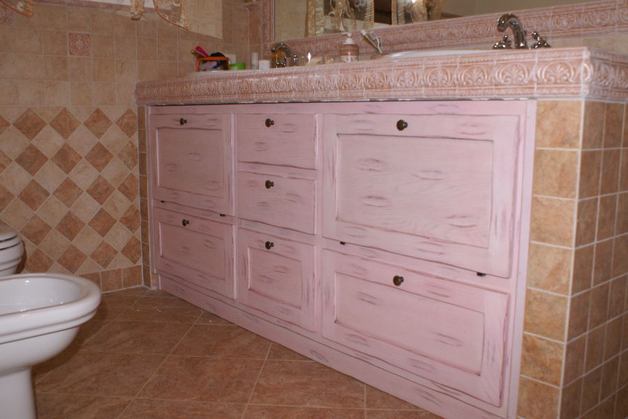 Affordable bagno classico ppbag with mobili da bagno in for Arredo bagno in muratura
