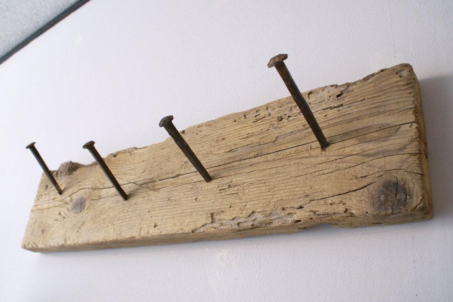 Appendiabiti in legno di recupero (XN-APP001) - Mobili su misura a ...