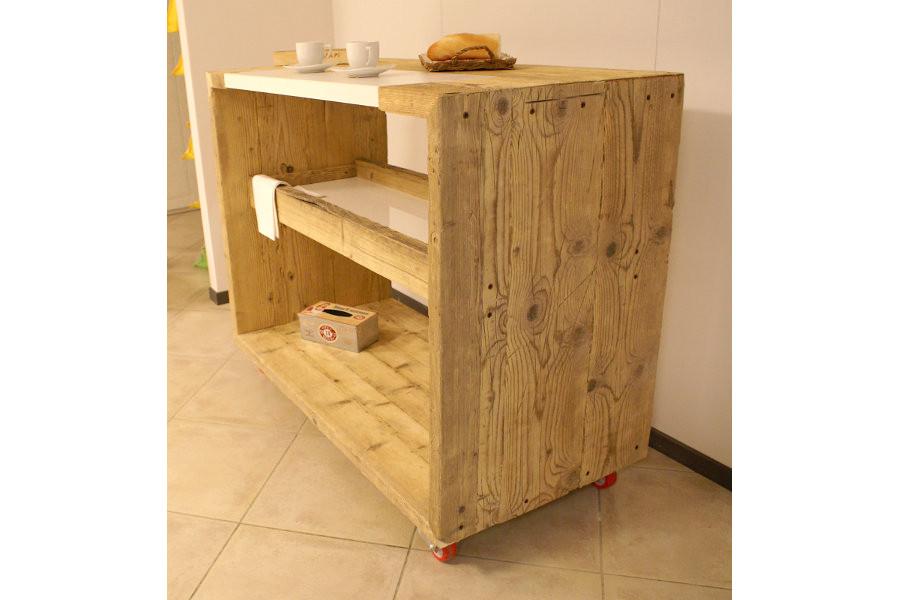 Bancone da cucina in legno di recupero xn ban001 - Mobili legno recupero ...