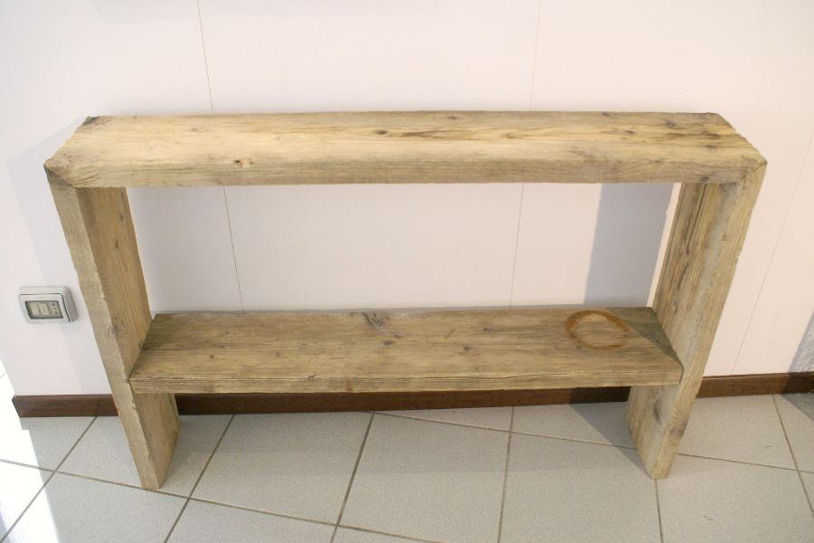 Consolle in legno di recupero xn con001 mobili su - Mobili con legno di recupero ...