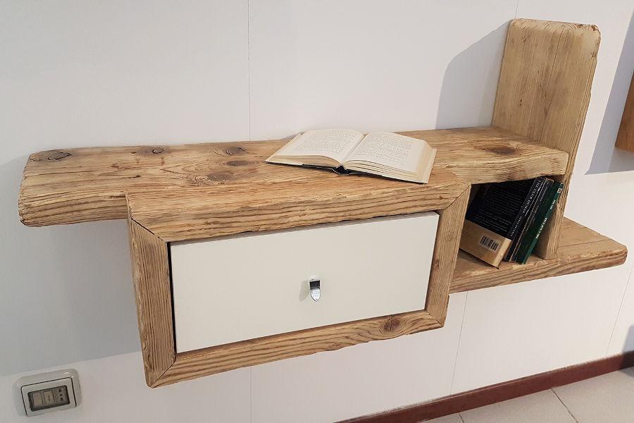 Pensile in legno di recupero xn pen005 mobili su misura a firenze lapi arredamenti - Mobili con legno riciclato ...