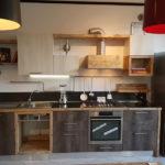 Cucina In Legno Di Recupero E Acciaio (XT-CUC001)