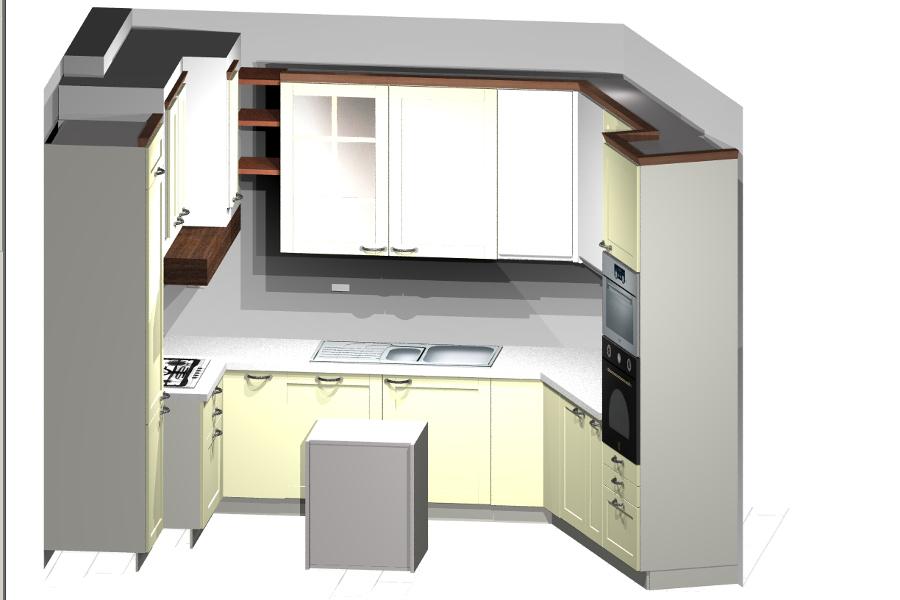 Progetto Cucina 3d. Perfect D Open Space Vista Tavolo E Porta Tv ...