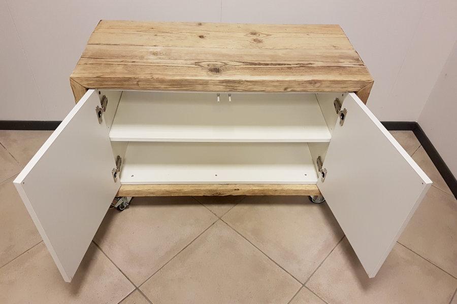 Porta tv in legno di recupero xn ptv003 mobili su - Mobili con legno di recupero ...