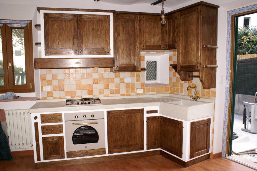 Cucina in finta muratura pp cfm009 mobili su misura a - Bagno finta muratura ...