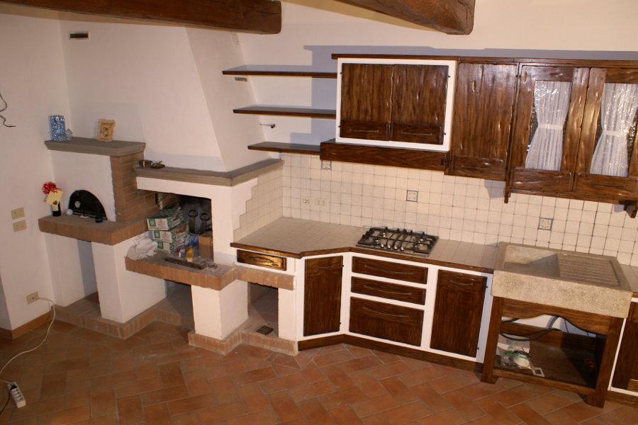 Cucina in finta muratura pp cfm020 mobili su misura a - Bagno finta muratura ...