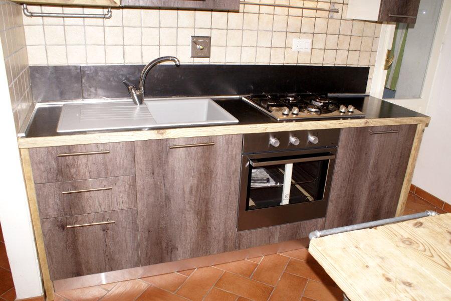Cucina In Legno Di Recupero E Acciaio (XT-CUC002)
