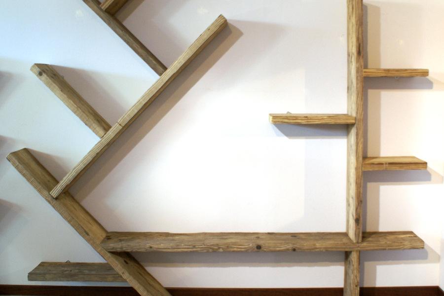 Libreria in legno di recupero (XN-LIB001)