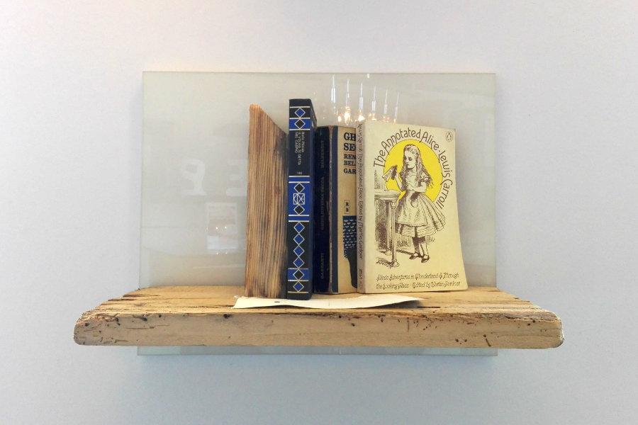 Mensola in legno di recupero con pannello in melaminico (XN-MEN004)