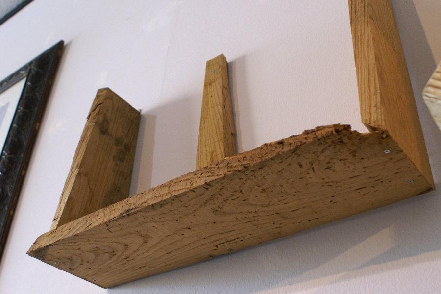 Mensola in legno di recupero (XN-MEN001) - Mobili su misura a Firenze - Lapi Arredamenti