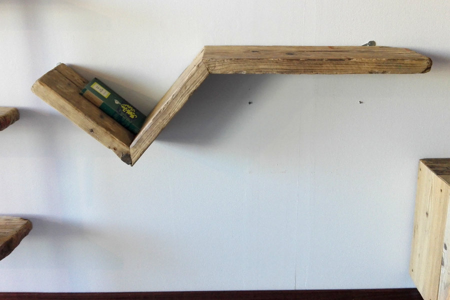 Mensola in legno di recupero (XN-MEN009)