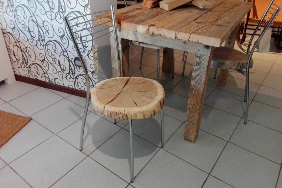 Sedia in legno di recupero (XN-SED003)