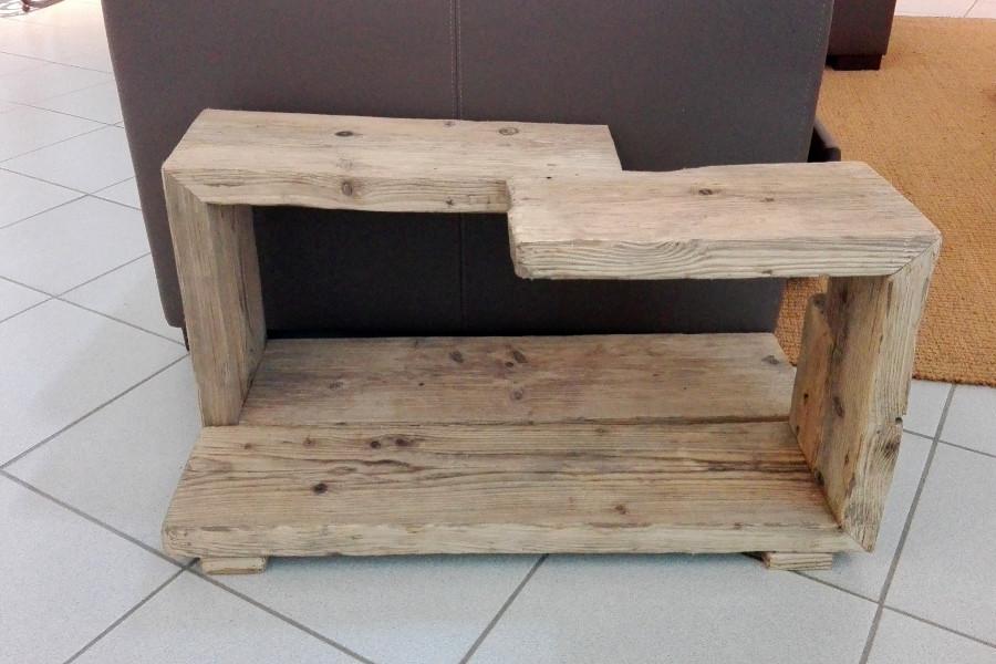 Libreria in legno di recupero e lamiera in acciaio xn - Mobili con legno di recupero ...