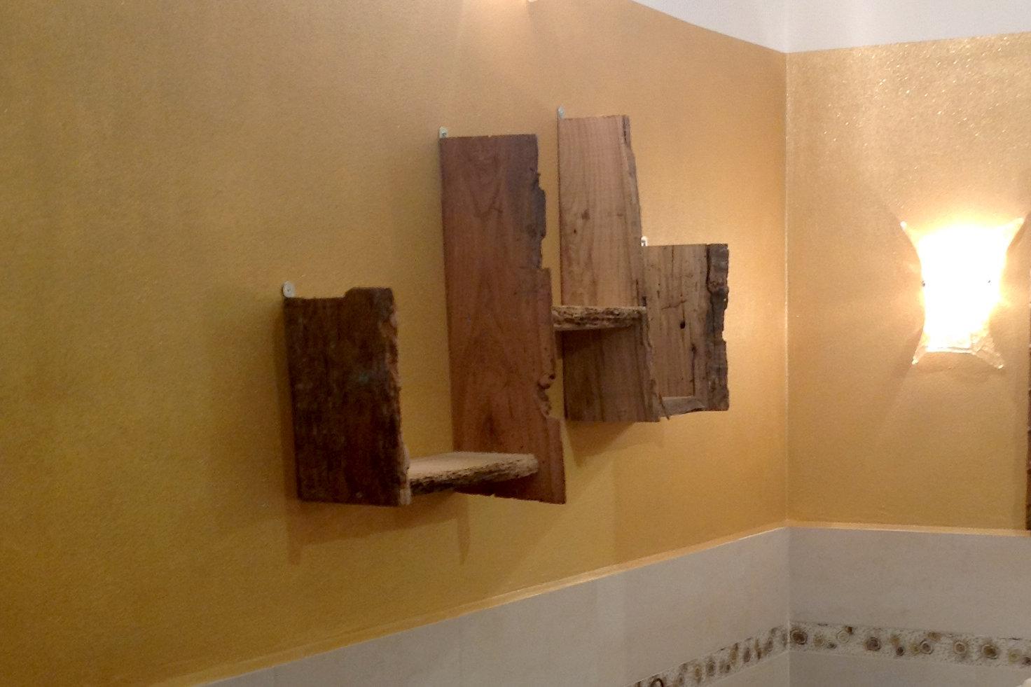 Mensola in legno di recupero (XN-MEN007) - Mobili su misura a Firenze - Lapi Arredamenti