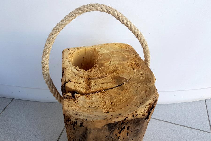 Sgabello in legno di recupero xn sed008 mobili su misura a firenze lapi arredamenti - Sgabello legno bagno ...