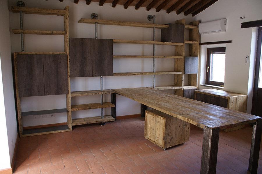 Composizione soggiorno in legno di recupero e tubi (XT-COM004 ...