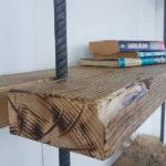 Libreria In Legno Di Recupero E Tondini In Ferro (XT-LIB010)