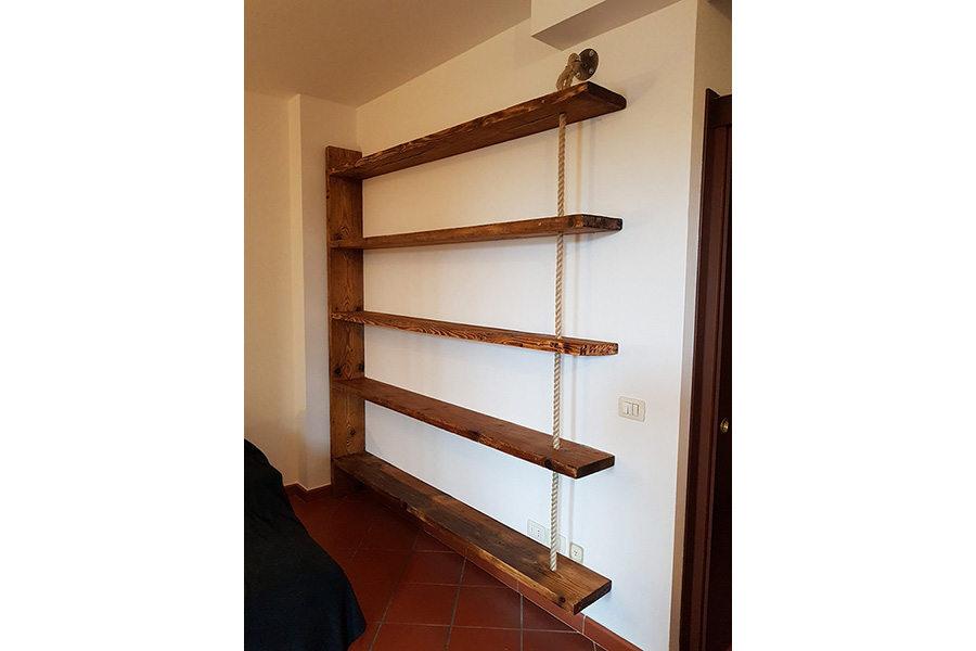Libreria In Legno Di Recupero (XN-LIB007)