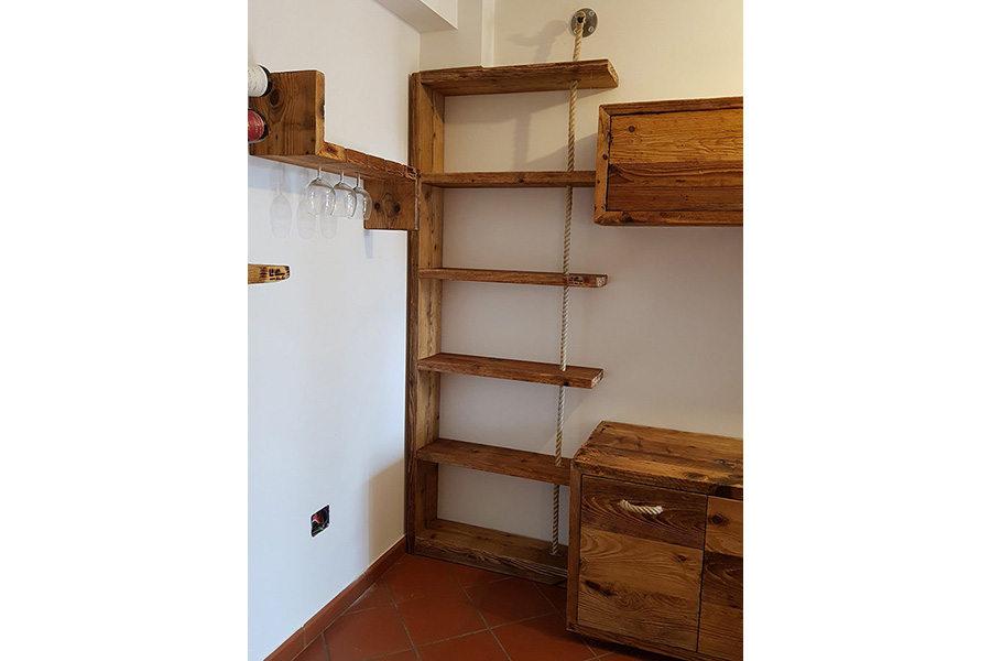 Libreria In Legno Di Recupero (XN-LIB008)