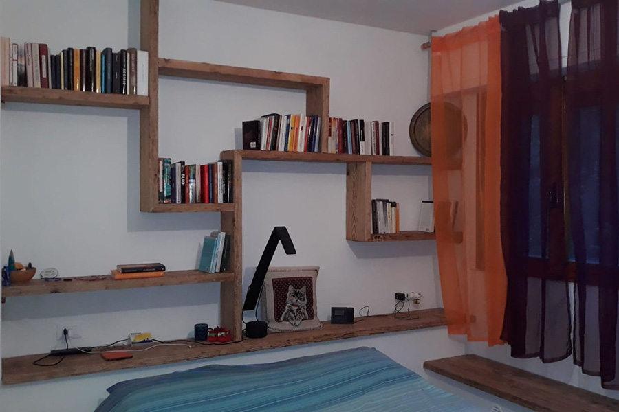 Libreria In Legno Di Recupero (XN-LIB011)