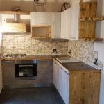 Cucina In Legno Di Recupero E Tubi Acciaio (XT-CUC005)