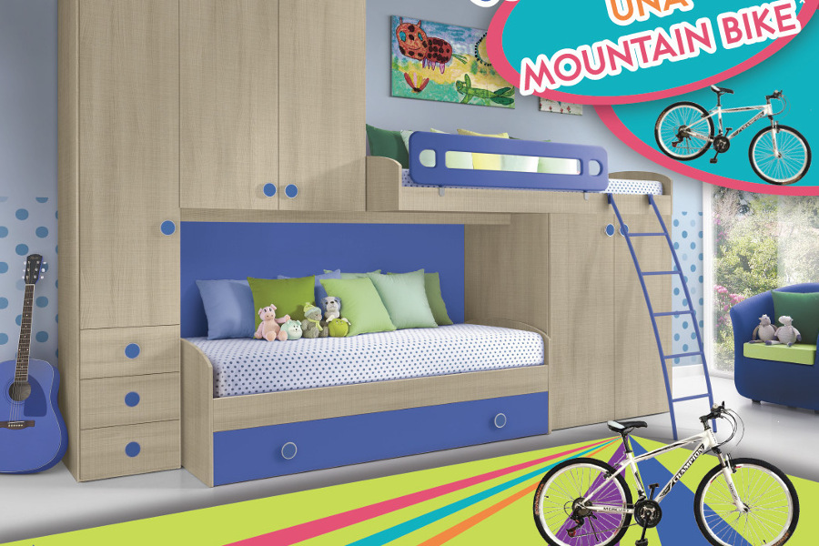 Cameretta Per Bambini Con Bicicletta Mountain Bike In Regalo