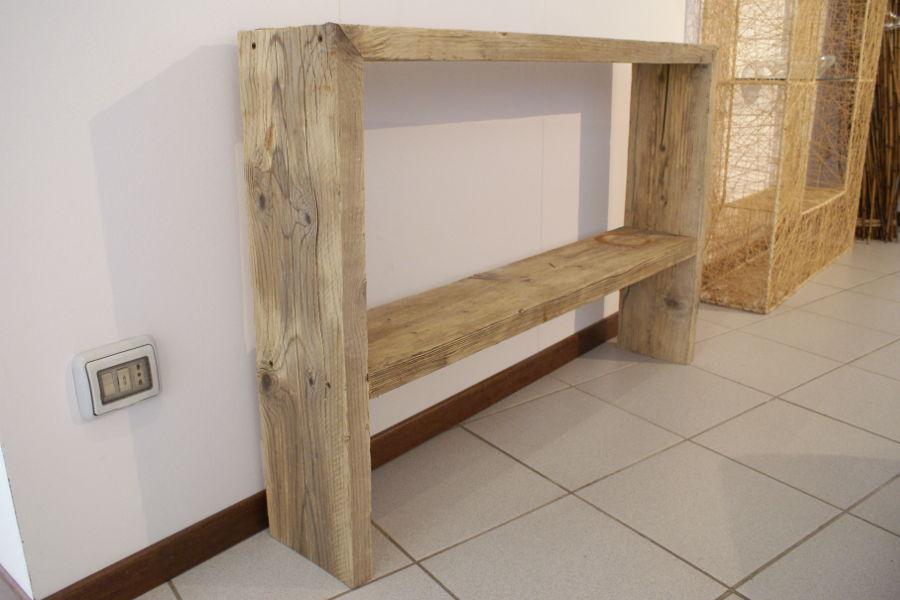 Consolle in legno di recupero (XN-CON001) - Mobili su misura ...