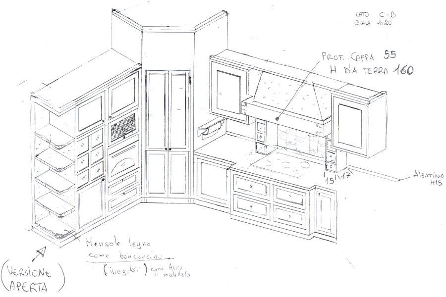 Cucina In Finta Muratura (PP-CFM001)