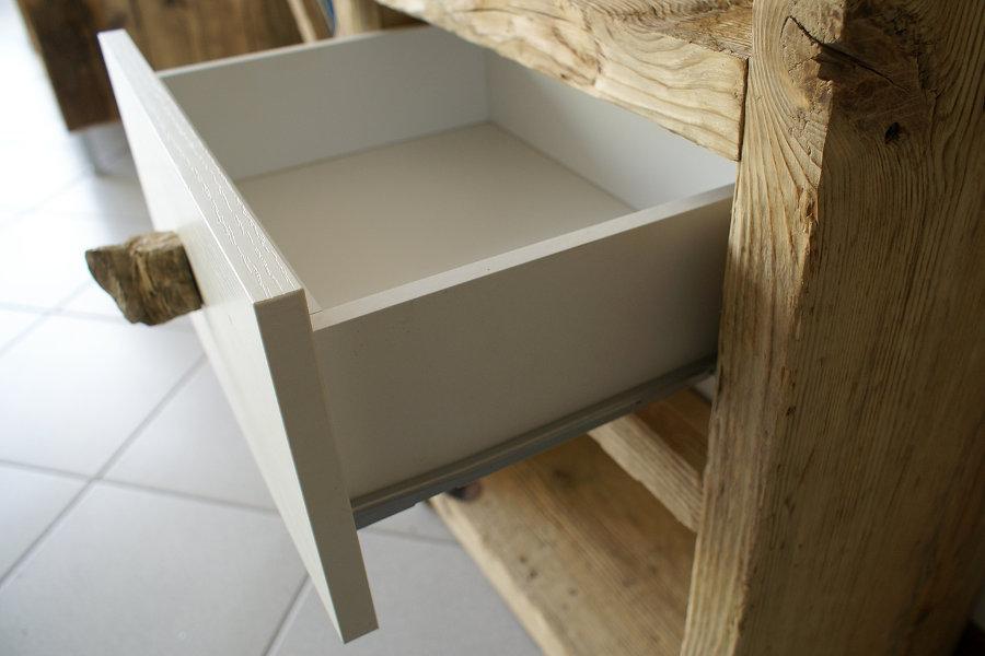 Mobili Con Legno Riciclato : Consolle su misura in legno di recupero xn con mobili su