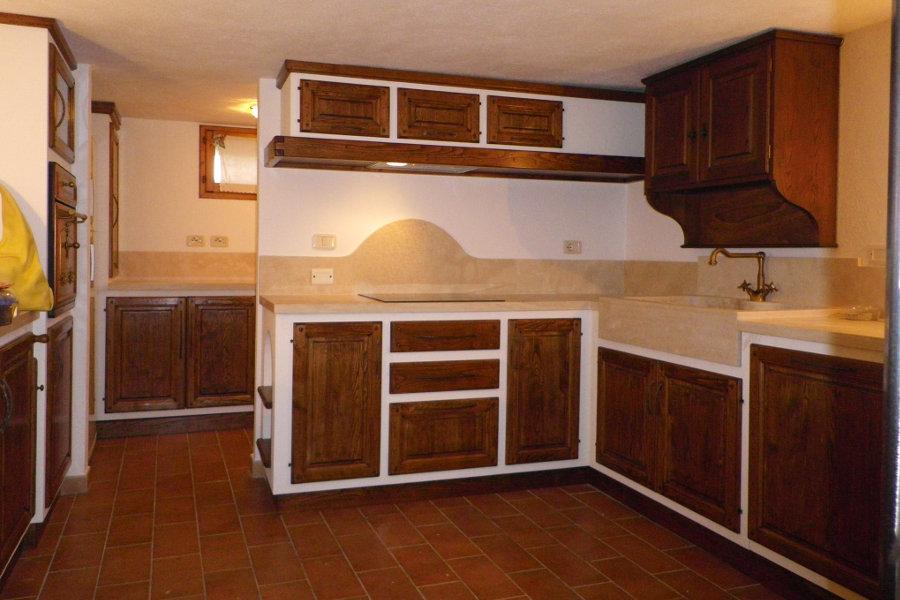 Cucina Angolare In Finta Muratura (PP-CFM008)