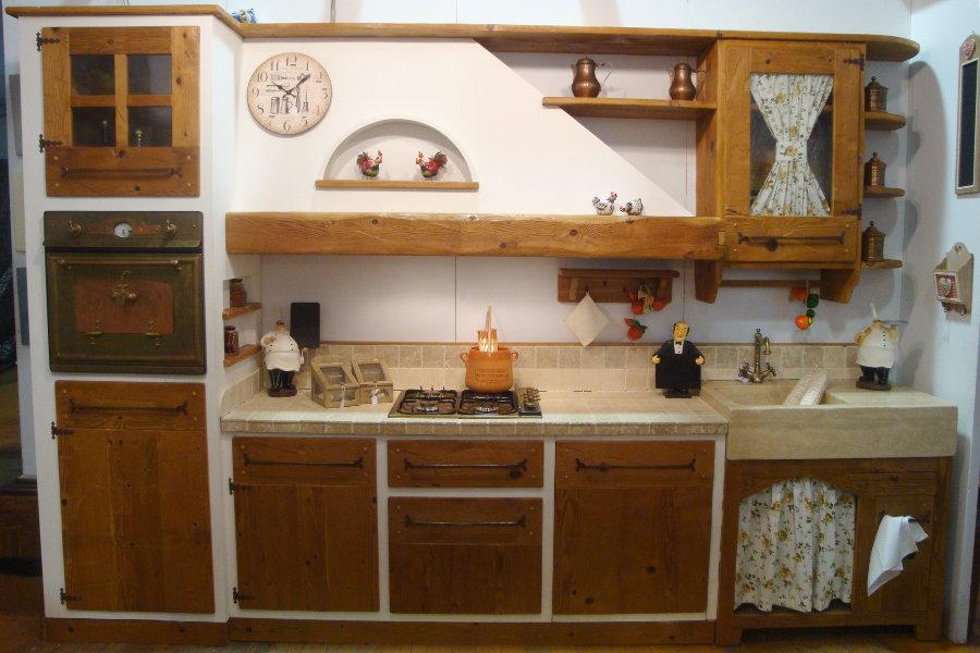 Cucina in finta muratura (PP-CFM002) - Mobili su misura a ...