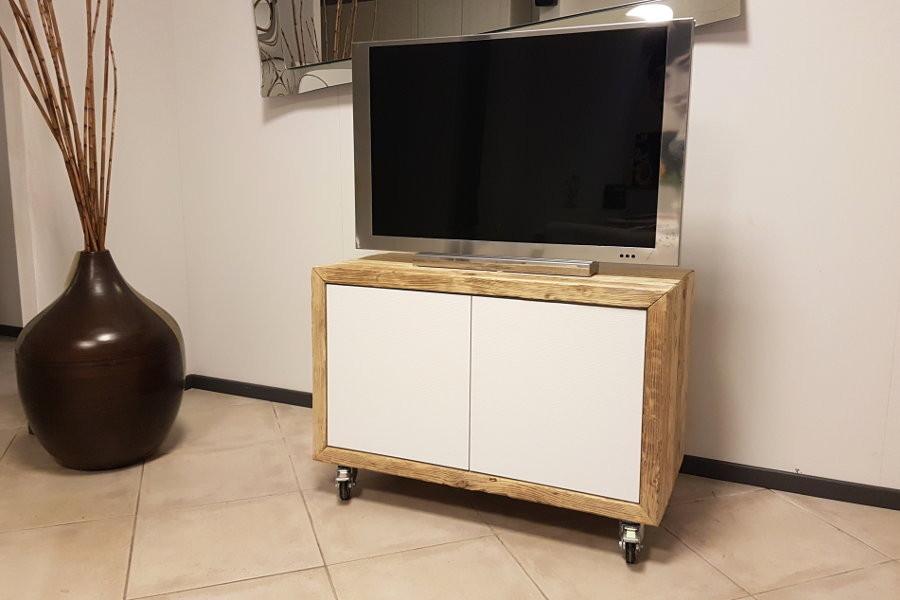 Porta TV In Legno Di Recupero (XN-PTV003)