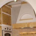 Cucina In Finta Muratura In Abete Color Naturale (PP-CFM019)