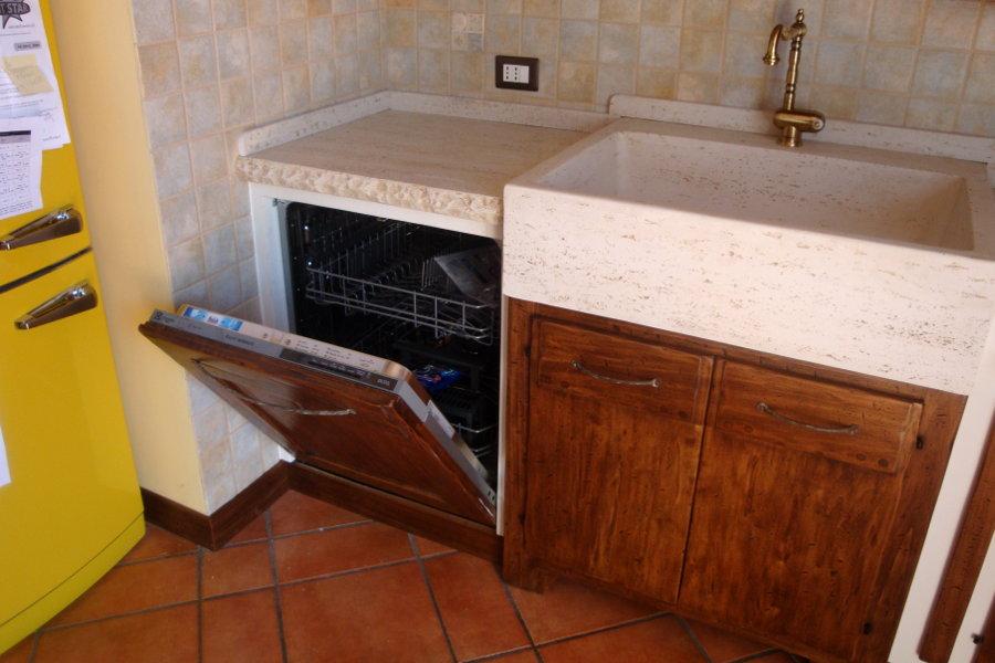 Cucina In Finta Muratura In Pioppo (PP-CFM022)