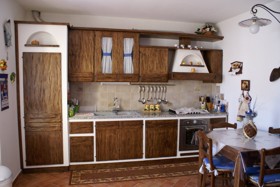 Cucina In Finta Muratura Lineare (PP-CFM014)
