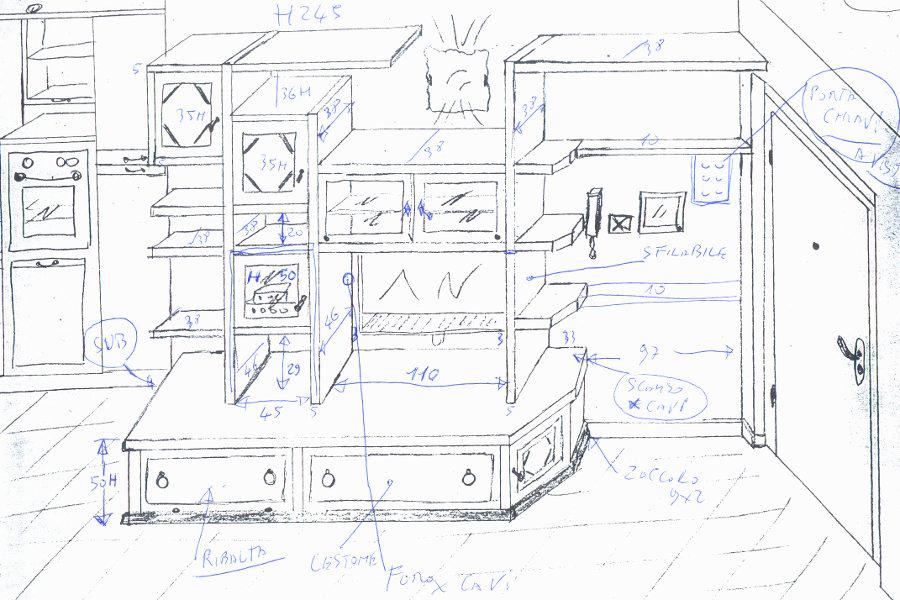 Mobile Per Soggiorno Linea X-Wood (XW-SOG015)