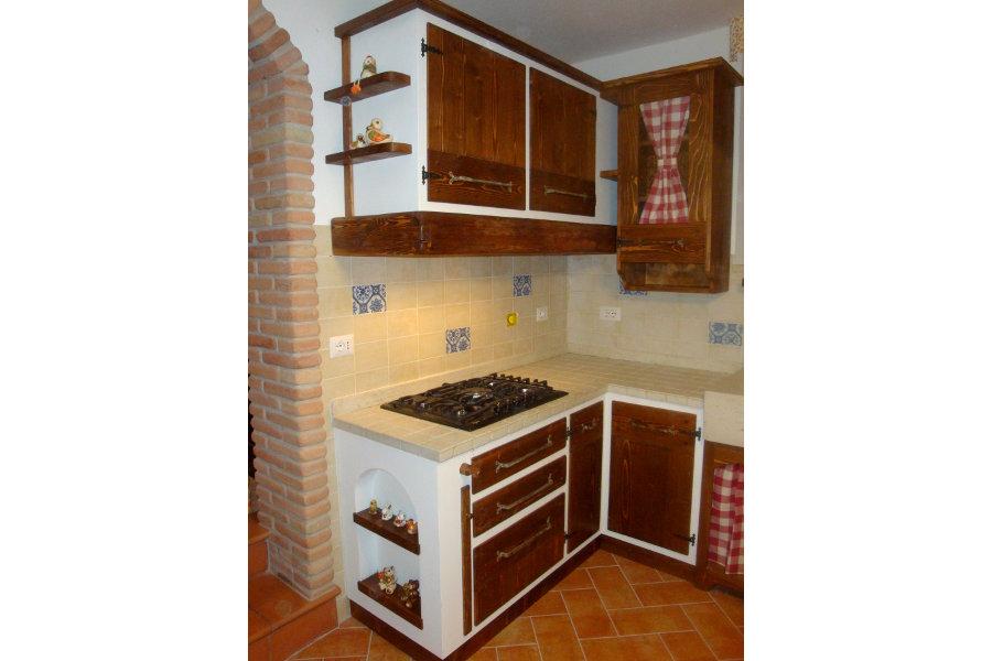 Cucina In Finta Muratura Con Due Angoli (PP-CFM030)