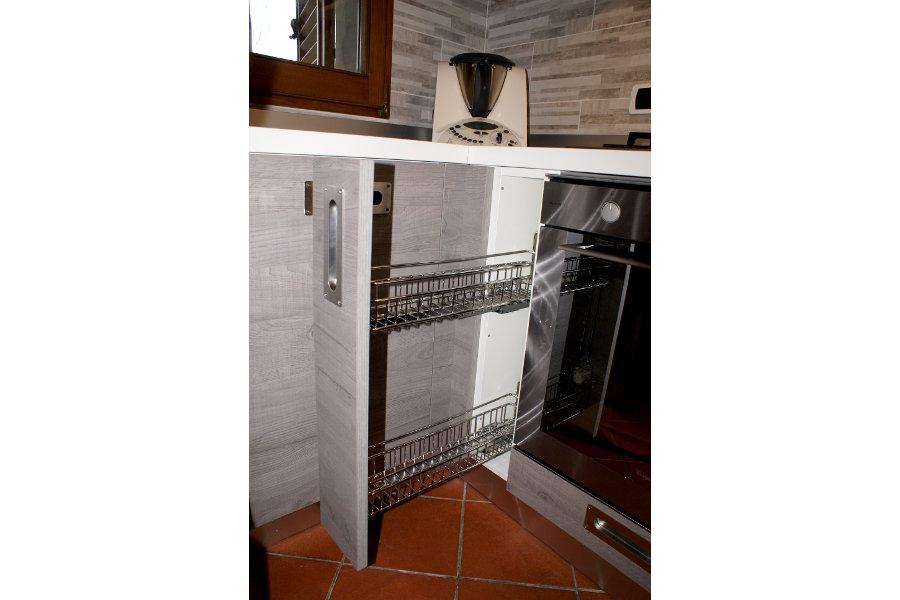 Cucina Moderna In Laminato Rovere (GC-CUC012)