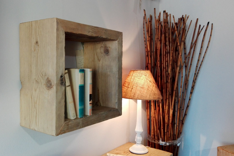 Mensola in legno di recupero (XN-MEN010)