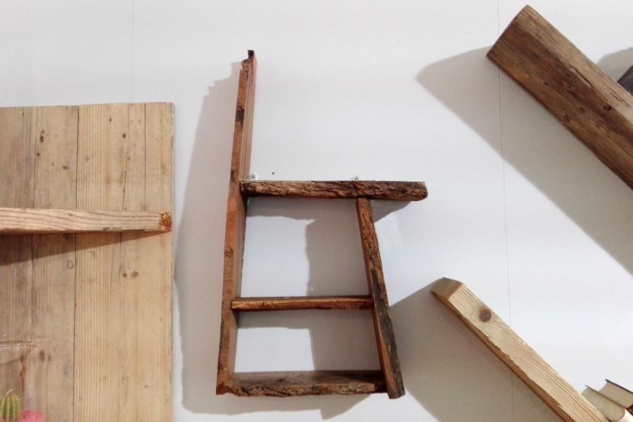 Mensola in legno di recupero (XN-MEN011)
