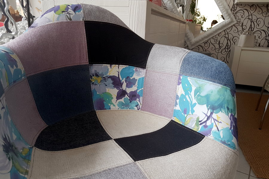 Poltroncina In Tessuto Patchwork (TM-RIF45)