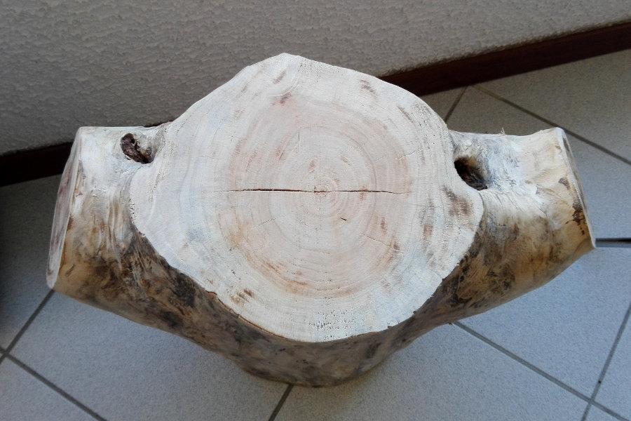 Sgabello In Legno Di Recupero Spazzolato (XN-SED005)