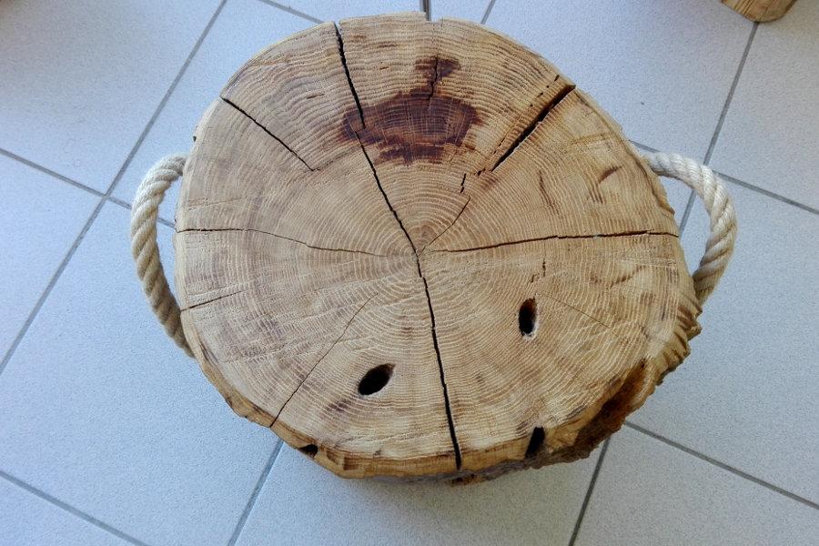 Sgabello In Legno Di Recupero (XN-SED006)