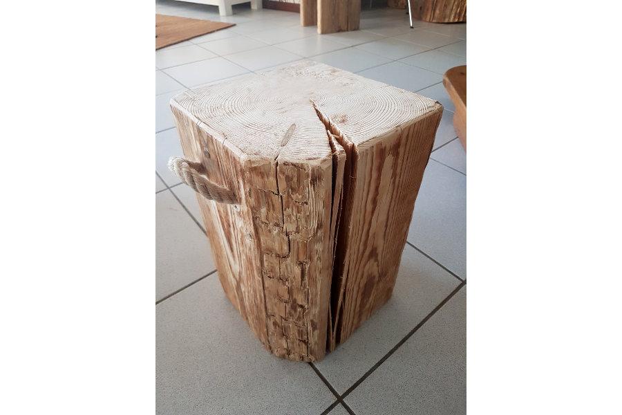 Sgabello in legno di recupero xn sed mobili su misura a