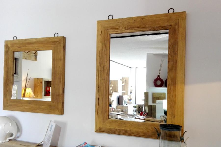 Specchiera In Legno Di Recupero (XN-SPE002)