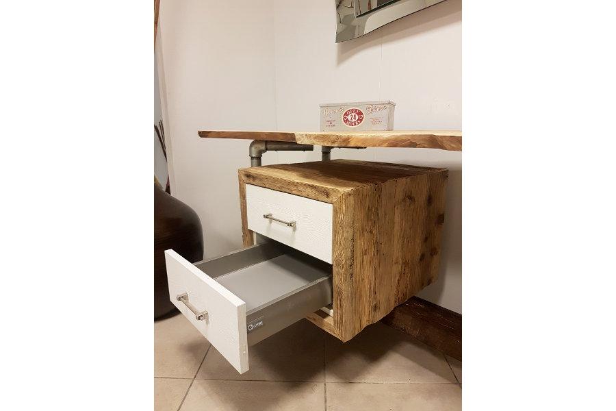 Mobile Bagno In Legno Di Recupero E Tubi In Acciaio (XT-BAG001)