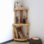 Libreria Ad Angolo In Legno Di Recupero (XN-LIB005)
